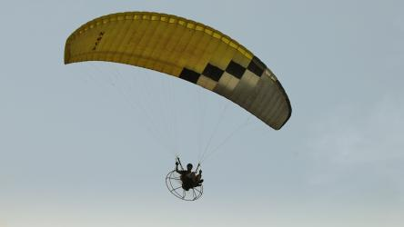 CLICK TO ENLARGE : Flight in a Paramotor